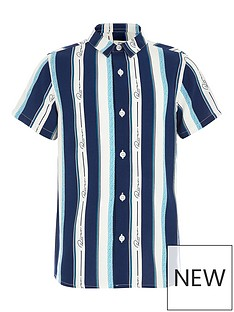 river-island-mini-boys-stripe-short-sleeve-shirt-blue