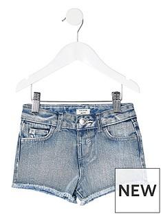 river-island-mini-mini-girls-becca-denim-shorts-blue