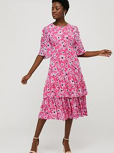 monsoon-daisy-printed-tiered-tea-dress-pink