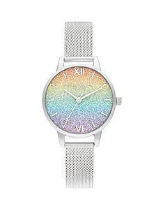olivia-burton-olivia-burton-rainbow-glitter-dial-silver-mesh