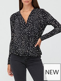 v-by-very-long-sleevenbspwrap-top-polka-dot