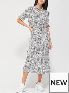 v-by-very-tie-neck-midi-dress-mono-print