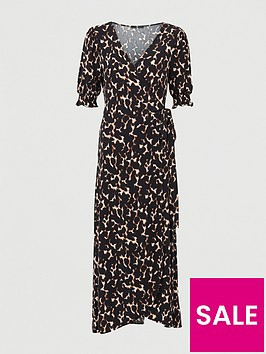 v-by-very-shirred-sleevenbspwrap-midaxi-dress-animal-print