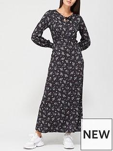 v-by-very-keyhole-midaxi-dress-black-print