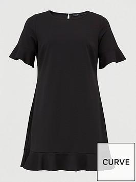 v-by-very-curve-jersey-crepe-shift-dress-black