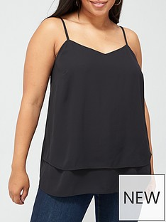 v-by-very-curve-woven-cami-top-black