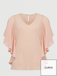 v-by-very-curve-chiffon-waterfall-sleeve-jersey-top-blush