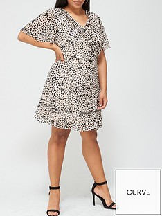 v-by-very-curve-lace-insert-tea-dress-animal-heart-print
