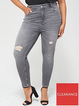 v-by-very-curve-shaping-ripped-skinny-jeans-grey
