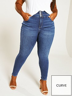 v-by-very-curve-shaping-high-waisted-skinny-jeans-dark-wash