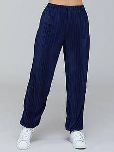 kate-ferdinand-plisse-trouser-co-ord-navy