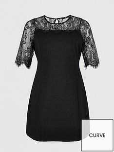 v-by-very-curve-lace-yoke-dress-black