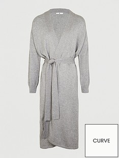 v-by-very-curve-longline-belted-knitted-cardigan-grey