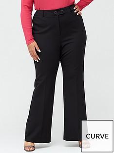 v-by-very-curve-ponte-stretch-kickflare-trouser-black