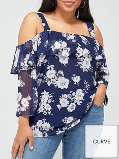 v-by-very-curve-cold-shoulder-ruffle-blouse-floral