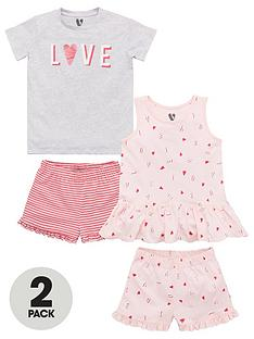 v-by-very-girls-2-pack-love-stories-shorty-pyjamas-multi