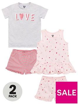 v-by-very-girls-2-pack-love-stories-shorty-pyjamas-multi