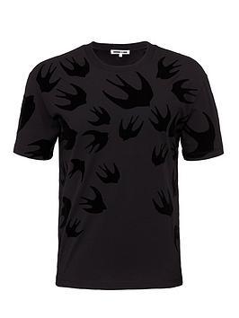 mcq-alexander-mcqueen-flocked-swallow-print-t-shirt-black