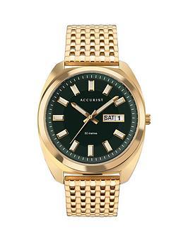 accurist-accurist-retro-range-green-daydate-dial-gold-stainless-steel-bracelet-watch
