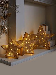 set-of-3-pre-lit-hessian-effect-star-lights