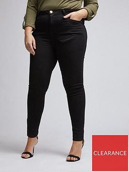 dorothy-perkins-curvenbspshape-and-liftnbspskinny-jeans--nbspblack