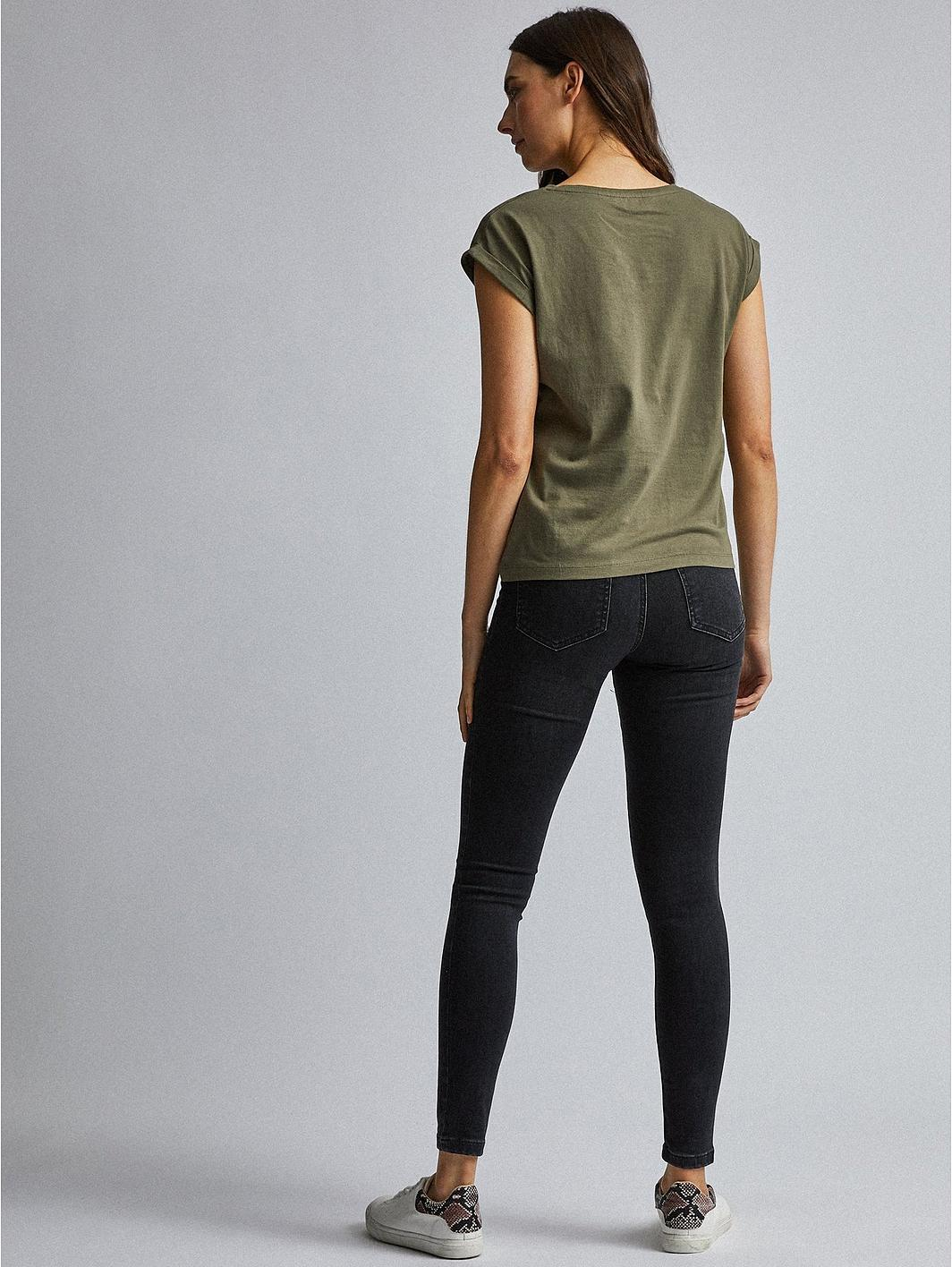 Dorothy Perkins Alex Mid Rise Skinny Jeans - Black KtzYDa