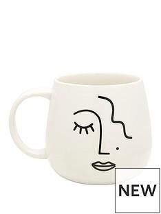 sass-belle-abstract-face-mug