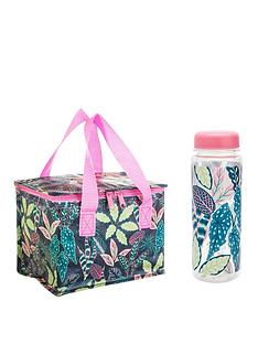 sass-belle-variegated-leaves-lunch-bag-and-water-bottle