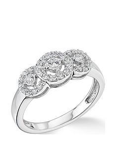 9k-white-gold-3-stone-halo-033ct-diamond-ring
