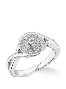 love-diamond-9ct-white-gold-025ct-diamond-twisted-shoulders-cluster-ring