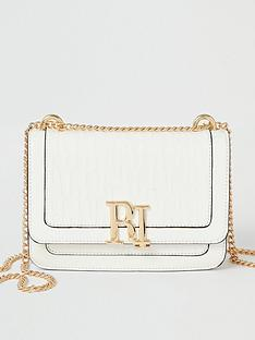 river-island-river-island-embossed-patent-satchel-bag-white