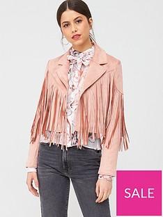 river-island-fringed-suedette-crop-jacket-pink