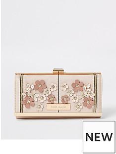 river-island-river-island-3d-floral-cliptop-purse-light-pink
