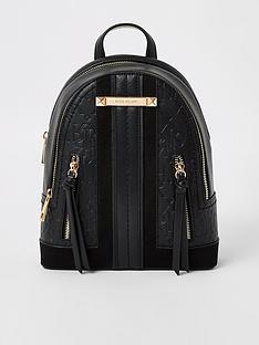 river-island-panelled-backpack-black