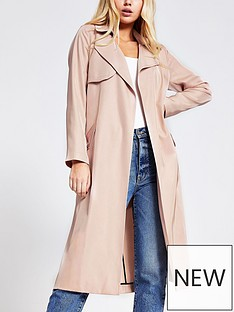 river-island-river-island-belted-trench-coat-light-pink