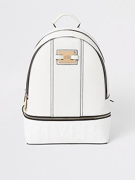 river-island-brand-embossed-backpack-white