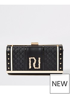 river-island-river-island-quilted-cliptop-purse-black