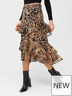 river-island-river-island-animal-print-chiffon-tiered-midi-skirt