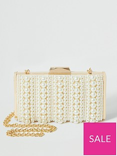 river-island-pearl-boxy-clutch-bag-cream