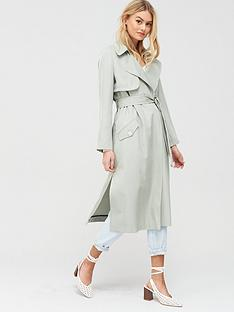 river-island-belted-trench-coat-green