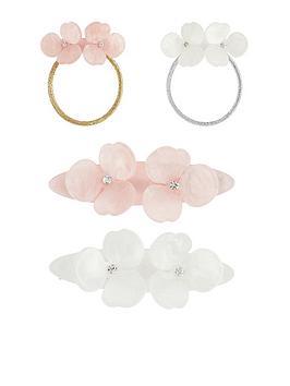 monsoon-girls-2-x-mop-flower-resin-clip-and-ponies-set-multi