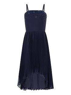 monsoon-girls-vienna-pleated-hanky-hem-prom-dress-navy