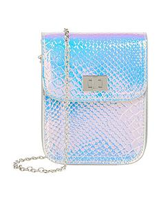 monsoon-girls-sylvie-hollogram-bumbag-silver