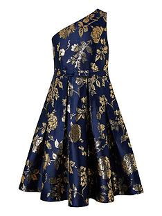 monsoon-girls-connie-1-shoulder-jacquard-prom-dress-navy
