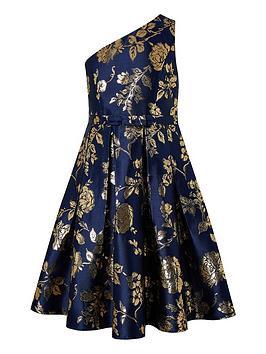 monsoon-girls-connie-1-shoulder-jacquard-prom-dress-navy