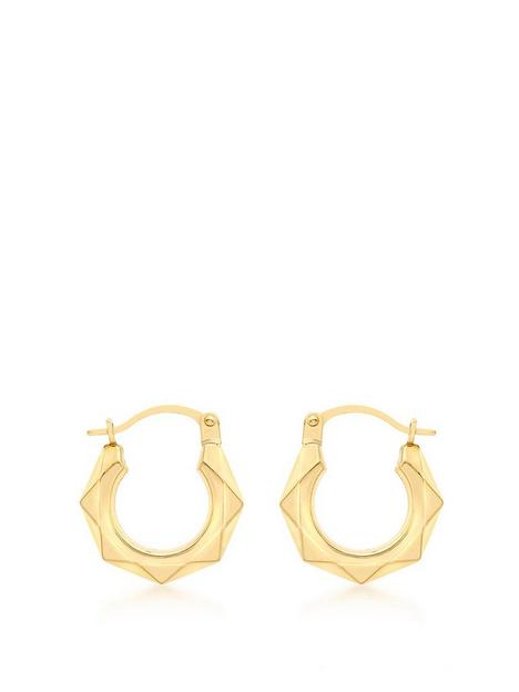 love-gold-9ct-gold-small-hexagonal-hoop-earrings