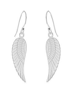 the-love-silver-collection-sterling-silver-simple-angel-wing-drop-earrings