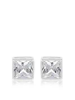 the-love-silver-collection-sterling-silver-6mm-white-cubic-zirconia-square-stud-earrings