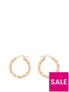 love-gold-9ct-rose-gold-flat-twist-hoop-earrings