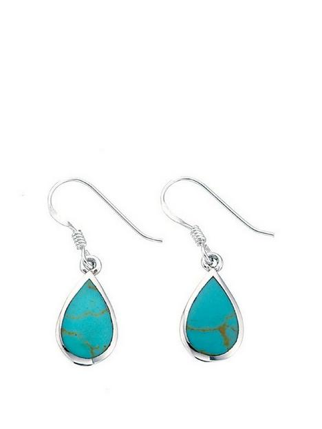 the-love-silver-collection-sterling-silver-turquoise-teardrop-earring